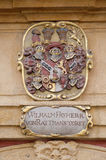 Facade coat of arms on the Landhaus historic center listed as World Heritage by UNESCO in Graz royalty free stock photos