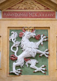 Facade coat of arms on the Landhaus historic center listed as World Heritage by UNESCO in Graz Stock Images