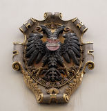 Facade coat of arms on the Landhaus historic center listed as World Heritage by UNESCO in Graz Royalty Free Stock Photo
