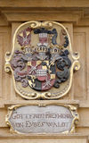 Facade coat of arms on the Landhaus historic center listed as World Heritage by UNESCO in Graz Stock Image
