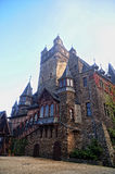 Facade of the Cochem castle architecture detail Royalty Free Stock Photography