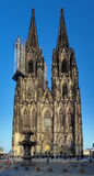 Facade of Cologne Cathedral, Germany. Facade of Cologne Cathedral at evening, Germany Stock Photos