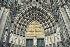 Facade of Cologne Cathedral in Germany. Stock Photography