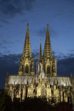 Facade of Cologne Cathedral, Germany Royalty Free Stock Images