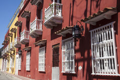 Facade of a colonial house Royalty Free Stock Image