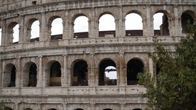Facade of the colosseum. In daytime detail Stock Image