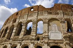 Facade of the Colosseum, Rome Stock Images