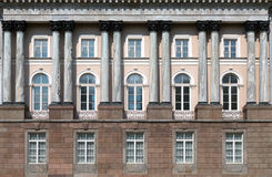 Facade with columns Stock Image