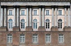 Facade with columns Stock Image