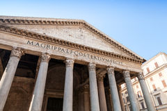 Facade with columns of Pantheon, Rome, Italy Stock Photography