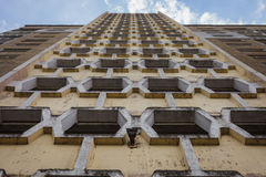Facade of a concrete high-rise building Stock Image
