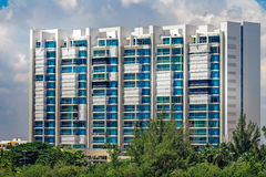 Facade of condominium. Apartment building. Stock Photo