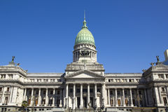 Facade of Congress in Buenos Aires Stock Photo