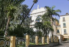 Facade of the convent of St. Francis in the city of Sorrento. Italy Stock Image