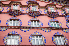 Facade of the Cooperative Bank Building, Ljubljana Royalty Free Stock Images