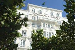 Facade of the Copacabana Palace Hotel Rio de Janeiro Royalty Free Stock Photo