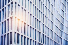 Facade of corprate building in business district. Facade of corporate building in business district stock photo