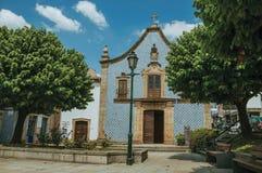 Free Facade Covered By Ceramic Tiles In A Baroque Church Stock Photos - 146766463