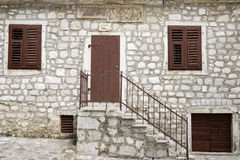 Facade of a Croatian house Royalty Free Stock Images