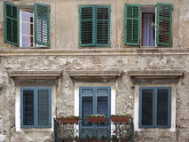 Facade of a Croatian house Stock Photography