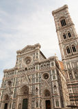 Facade and cupola of Duomo. In Florence, Italy stock images
