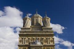 Facade of Curtea de Arges Monastery Stock Photography
