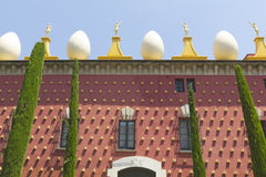Facade of Dali Museum in Figueres Stock Images