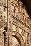 The facade of de San Esteban convent cathedral, Salamanca, Spain Royalty Free Stock Photography