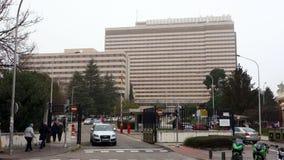 Facade of the defense general hospital `Gomez Ulla` where the Spanish returnees kept quarantined, Wuhan coronavirus