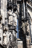 Facade detail of the Aachen Cathedral Royalty Free Stock Photos