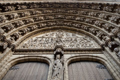Facade detail of Antwerp Cathedral Royalty Free Stock Photography