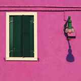 Facade detail on Burano Royalty Free Stock Photography