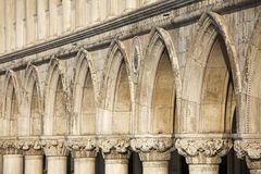 Facade Detail Of Doge's Palace Royalty Free Stock Images