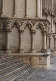 Facade detail of Gothic cathedral Stock Images