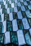 Facade detail of Harpa Concert Hall, Reykjavik Royalty Free Stock Photos