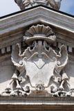Facade detail of the Mantua Cathedral dedicated to Saint Peter, Mantua, Italy.  Stock Photos