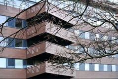 Facade detail of modern building,. The facade detail of modern building Royalty Free Stock Photography