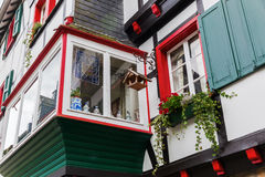 Facade detail in Monschau, Germany Stock Photography