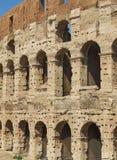 Facade of the roman Colosseum. Rome, Lazio, Italy. Stock Photography