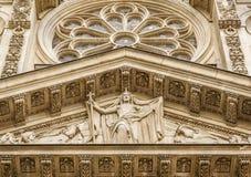 Facade detail from Sainte-Genevieve, Paris, France Stock Photo