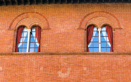 Facade detail of a traditional italian castle Royalty Free Stock Images