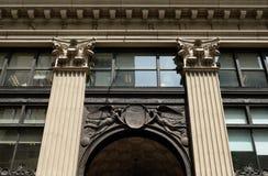 Facade detail of Widener Building in Philadelphia. Facade detail of Widener Building on South Penn Square, Philadelphia, Pennsylvania, USA Stock Image