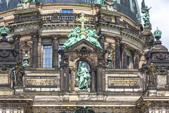 Facade details of Berlin Cathedral Berliner Dom, Germany Royalty Free Stock Images