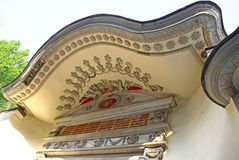 Facade details of old ottoman building in Istanbul Stock Photography
