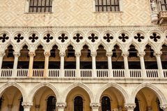 Facade of Doges Palace in Venice Stock Image
