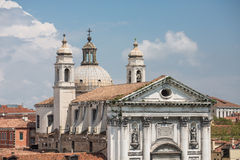 Facade and Domes on Venice Church Stock Images