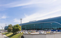 Facade Domodedovo airport. Moscow Royalty Free Stock Photos