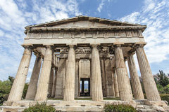 Facade of the Doric temple of Hephaestus in Ancient Agora, Athens, Greece Royalty Free Stock Photo