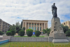 Facade of drama academic theatre in Baku Royalty Free Stock Photo