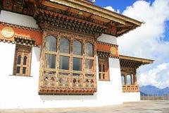The facade of Druk Wangyal Lhakhang, near Thimphu (Bhutan). Royalty Free Stock Photos